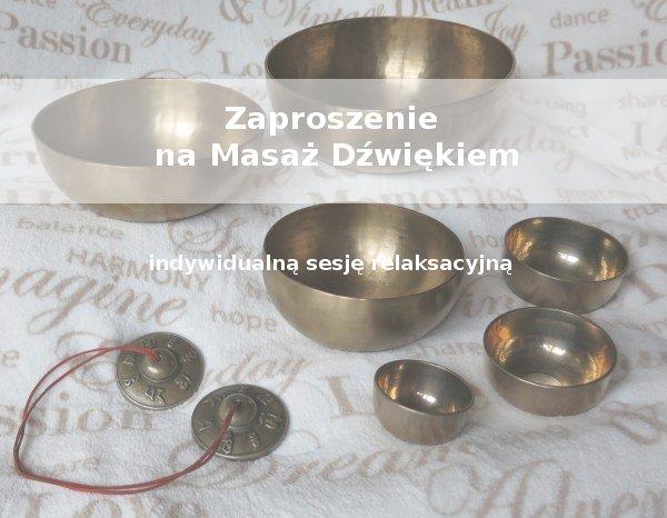 Masaż dźwiękiem zaproszenie Poznań
